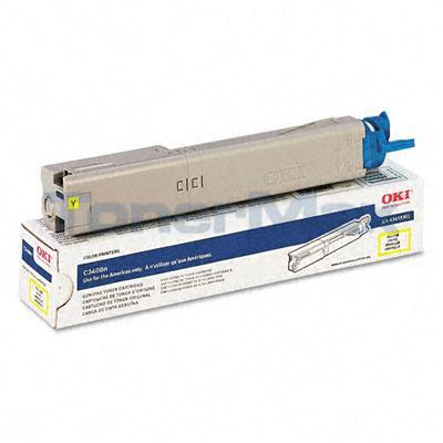 OKI C3400N TONER CARTRIDGE YELLOW 1K